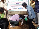 Assistant Registrar, University of Madras, Guindy Campus, planting Sapling in University Campus