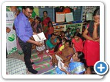 Dr. G. Karunasagaran, Scientist-D, ENVIS Centre distributing pamphlet related to World Wetland Day to village peoples