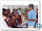 Mr. D. Siva Arun, Programme Assistant interacting with School Students, College Students and public