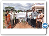 Mr. Magudeswarar, Deputy Tahsildar, Revenue taluk office, karur. Planting sapling and distributing a pamphlets to village people for create awareness related to importants of wild life environment and Climate Change