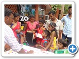 Dr. G. Karunasagaran, Scientiest - D, ENVIS Centre, interact with children and explanting the environmental issues